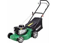 Qualcast 41cm Wide Push Petrol Lawnmower - 125CC