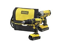 Stanley Fatmax hammer drill and impact driver kit. NEW