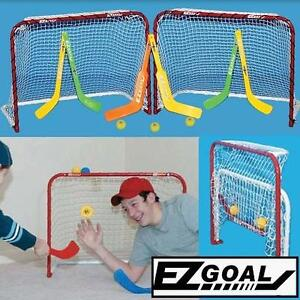NEW EZGOAL DOUBLE MINI HOCKEY GOAL - 115015895 - Sports  Outdoors Team Sports Field Hockey  Goals