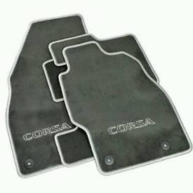 Vauxhall Corsa D genuine velor floor mats new