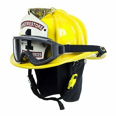 Cairns Yellow N6a Houston Leather Fire Helmet - Yellow Large Ess Innerzone 2