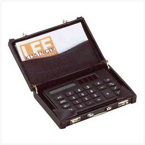 MINI Briefcase Calculator and Buisness Card Holder CHEAP!!!
