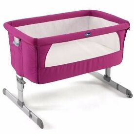 Chicco Next 2 Me Crib - Fuchsia / Pink