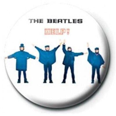 die Beatles helfen! Foto 25mm Button Pin Abzeichen offiziellen Mc Cartney Lennon
