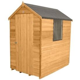 NEW Garden Shed: Larchlap Apex Roof 1 Window: Size: 6x4 Flat Display Pre-Treated Collection THURROCK