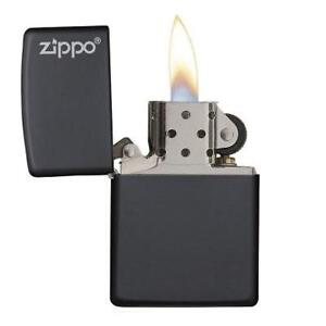 NEW BLACK MATTE LOGO POCKET LIGHTER 218ZL 224441916 ZIPPO