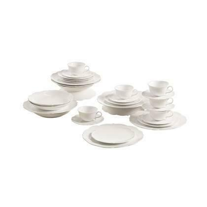 Maxwell & Williams White Rose Koffie & Dinerset 30-delig Wit