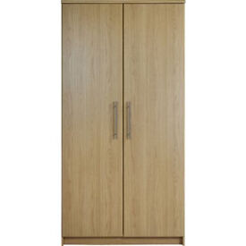 Normandy 2 Door Large Wardrobe - Oak Effect
