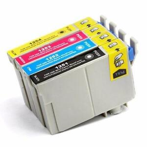 Epson T125 New Compatible Ink Cartridges Value Pack (BK/C/M/Y)