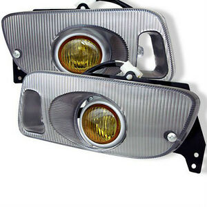 Honda Civic 92-95 2DR & 3DR Spyder Fog Lights Yellow - FL-HC92-Y