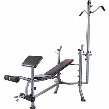 Pro Power Lat And Curl Bench Multi Gym Bench Press Leg Extension Lat Pulldown In