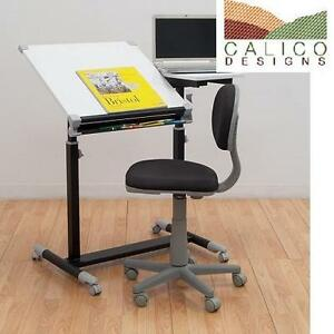 NEW CALICO DESIGNS TASK CHAIR DELUXE TASK CHAIR IN BLACK WITH GRAY BASE 102054409