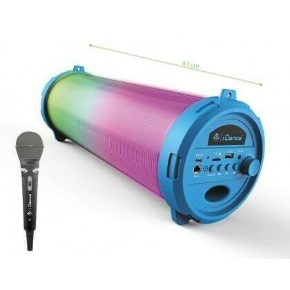 BLUETOOTH PARTY SPEAKER WITH DISCO LIGHT AND MICROPHONE