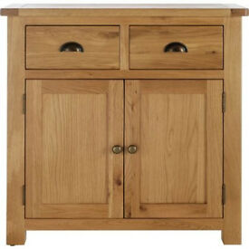 Kent 2 Door 2 Drawer Sideboard - Solid Oak & Oak Veneer