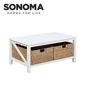 NEW SONOMA CAMERON COFFEE TABLE 81SNR4301WHT 226655045 SONOMA GOODS FOR LIFE ANTIQUE WHITE