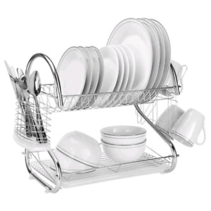 Dish Drying Rack Drainer with Drainboard
