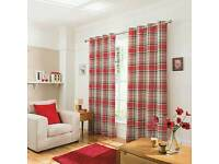 Lovely red checked curtains 90x90