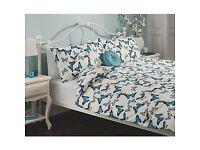 2 Asda Butterfly duvet covers with pillow cases and fitted sheets