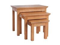 Westminster Nest of 3 Tables - Solid Oak