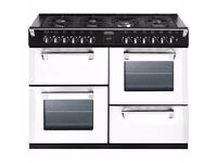 STOVES RICHMOND 110CM ICY BROOK DUAL FUEL RANGE COOKER NEW