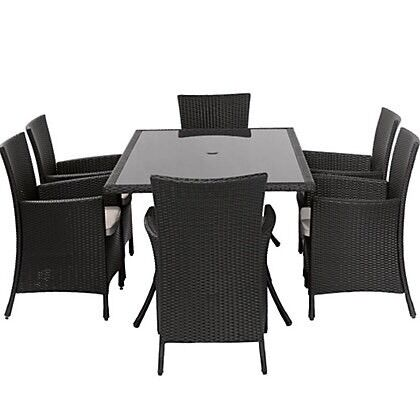 panama 6 seater rattan garden set - Rattan Garden Furniture 6 Seater