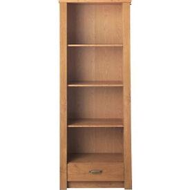 Dalton 1 Drawer Bookcase - Oak Effect