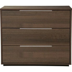 Heart of House Bergen 3 Drawer Chest - Walnut Effect
