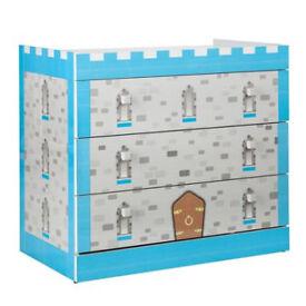 Blue Castle 3 Drawer Chest
