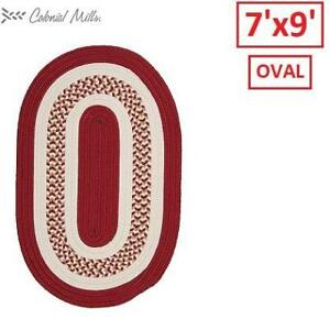 NEW FLOWERS BAY AREA RUG FB71R084X108 219253017 Colonial Mills Reversible Braided Rug Red Oval