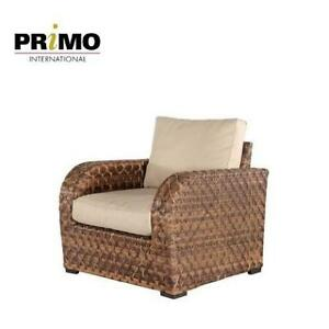 NEW CALVIN WICKER PATIO ARMCHAIR BOOM-CHAX2995 203842362 PRIMO INTERNATIONAL PATIO FURNITURE