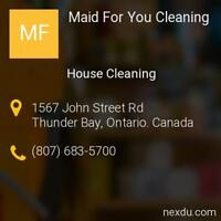 Looking for Residential Cleaner