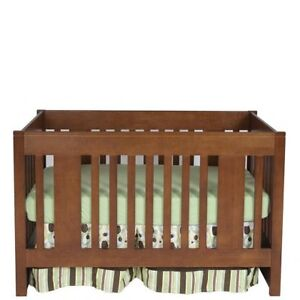 York Convertible Crib in Java ,Canadian made in Solid Wood