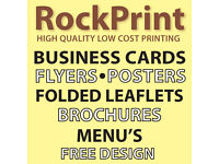 Rockprint - High Quality Low Cost Printers - Flyers - Folded Leaflets - Business Cards - Booklets