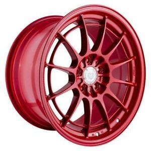 ENKEI NT03+M 18x9.5 5x100 Competition Red FRS 86 BRZ Forester Special Colour **WHEELSCO**