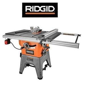 "NEW RIDGID 10"" CAST IRON TABLE SAW R4512 209000481 13 AMP PROFESSIONAL POWER TOOL"