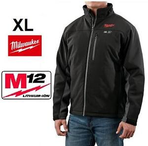 NEW MEN'S MILWAUKEE HEATED JACKET XL - BLACK - M12  12-VOLT LITHIUM-ION CORDLESS BLACK HEATED JACKET KIT 102105613