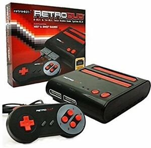 2 in 1 Retro SNES and NES System with 2 nintendo controllers
