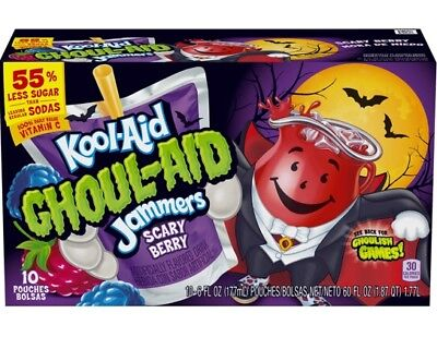 Halloween Drink Mixes (New Ghoul-Aid Scary Berry Kool-Aid Jammers! Halloween Exclusive Not In)