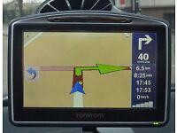 Tom tom go 730 sat navigation bluetooth gps system uk, ireland and europe maps!