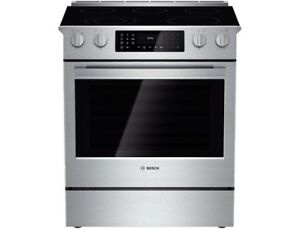 "Bosch HEI8054C 800 Series 30"" Stainless Steel Electric Slide-in"