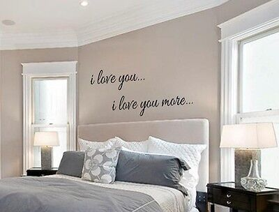 I LOVE YOU I LOVE YOU MORE Vinyl Wall Art Decal Words Lettering Decor - I Love You Decorations