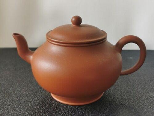 Chinese Yixing zisha 朱泥 mini teapot with markings/calligraphy 110cc original 孟臣