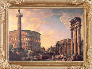 Ancient ROMAN CAPRICCIO Framed Dollhouse Art Picture