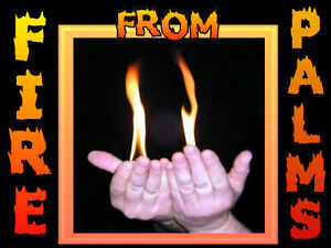 MAGIC TRICK - FIRE FROM PALMS - Set of 2 & instructions