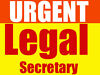 LEGAL SECRETARY UPTO £40K PER ANNUM REQUIRED - LONDON London