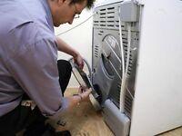 Dishwasher and washing machine installation team