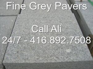 Fine Grey Patio Pavers Square Cut Outdoor Grey Granite Flagstone