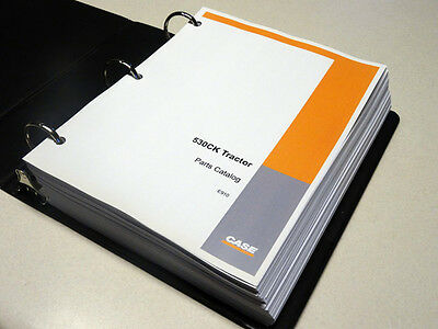 Case 530ck Tractor Parts Catalog Manual List Book New With Binder