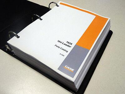 Case 1835 Uni-loader Skid Steer Parts Catalog Manual List Book New Wbinder