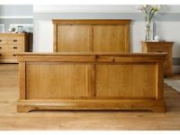 Double bed solid oak